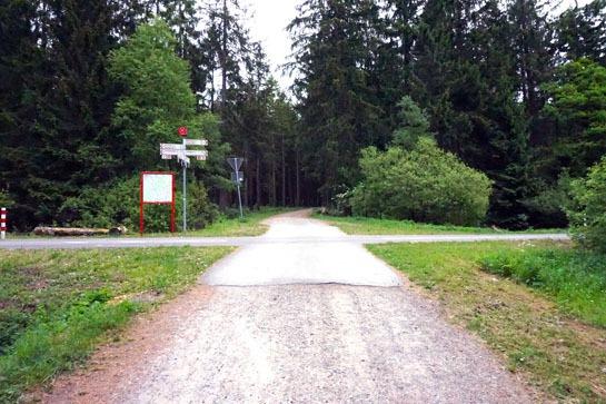 Wegkreuzung Vennbahn-Radweg Roetgen