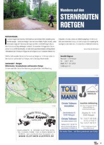 Sternrouten Roetgen in Eifel pur Ausgabe 02/2021