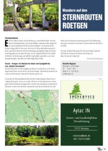 Artikel Sternrouten in Eifel pur April 2021