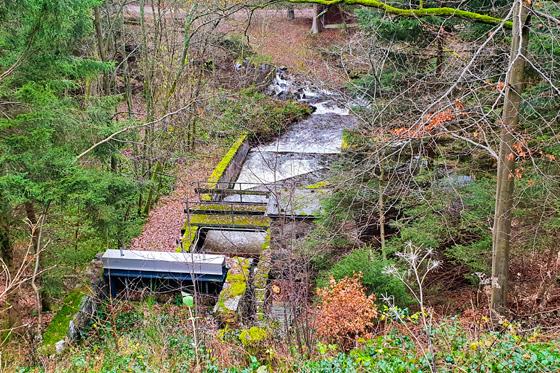 Étapes de traitement du barrage de Dreilägerbach