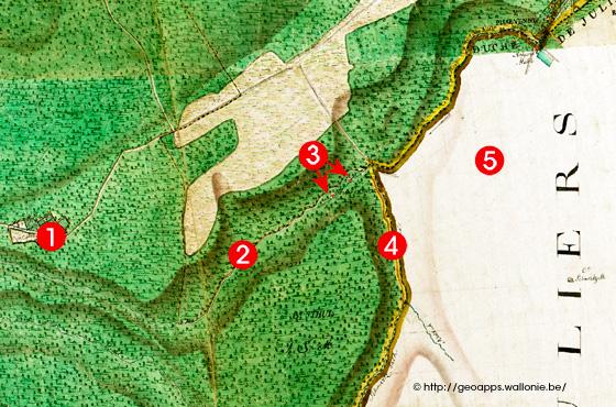 Kupfermühlen an der Weser alte Karte